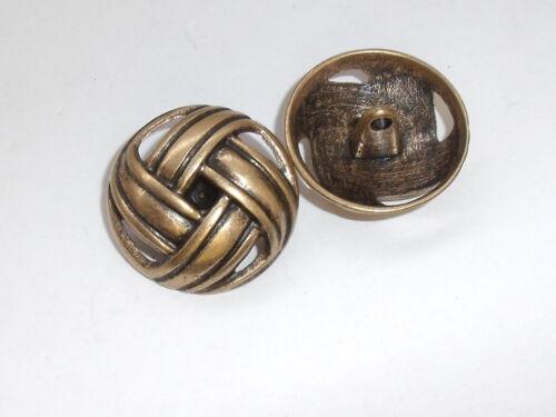 8 pieza de metal botones botón Trachten botón botones 22 mm oro viejo mercancía nueva #757#