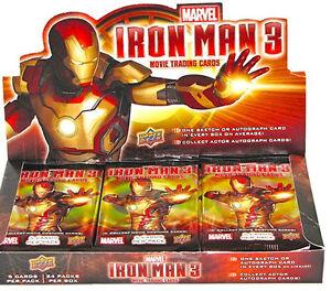 NIP 2013 Marvel Iron Man 3 Trading Cards UD Upper Deck Pack Sealed Upperdeck New