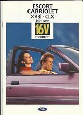 FORD ESCORT XR3i CABRIOLET AND CLX SALES BROCHURE 1992 DUTCH