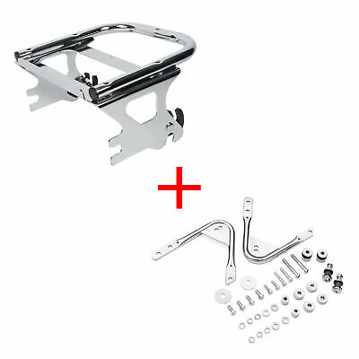 2-Up Tour Pack Detachable Rack for Harley Davidson Touring /'97-/'08 two up BLACK