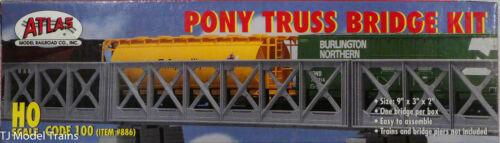 Atlas HO #886 Pony Truss Bridge Kit