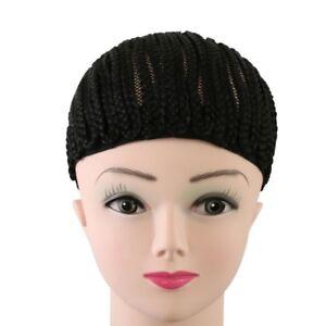 Black-large-Hairnets-Cap-Elastic-hairnet-Cornrow-Wig-Making-Braid-Wig-Cap-E7CX