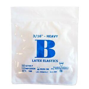 Orthodontic Elastic Bands Latex 3 16 4 5oz Heavy Elastics