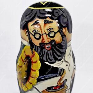15.2cm Amazing Juif Famille Russe Matryoshka Collecteur Poupées Imbriquées 5pcs Tegn6e1y-07175443-940993218