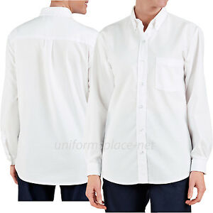 14c144ca Details about Dickies Shirts Womens Button Down Oxford Work Shirt Long  Sleeve #254 White