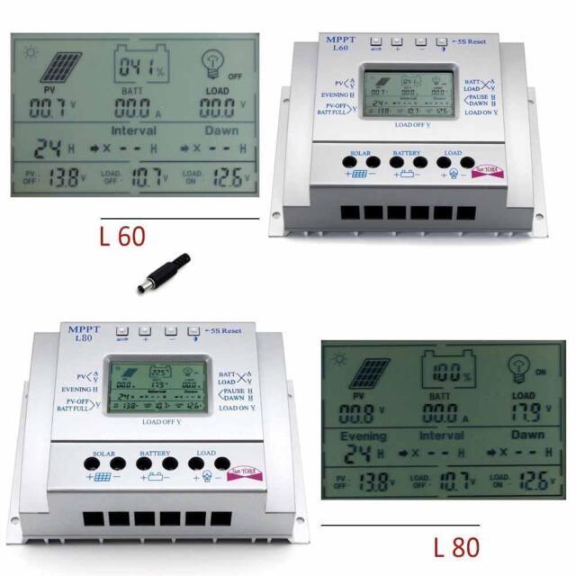 60A 80A Solar Panel Laderegler Solarregler 12V 24V MPPT Auto Switch mit USB DI