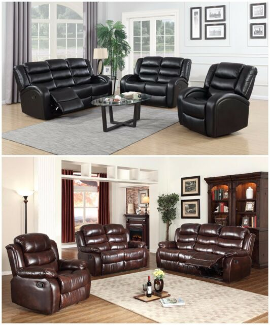 Awesome The Room Style New Motion Sofa Loveseat Recliner Living Room Bonded Leather Set Beatyapartments Chair Design Images Beatyapartmentscom
