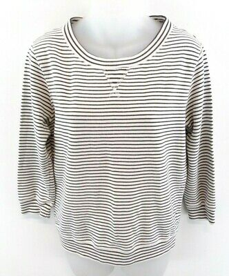 UnermüDlich Jack Wills Womens Jumper Sweater 8 White Grey Stripes Cotton Seien Sie In Geldangelegenheiten Schlau
