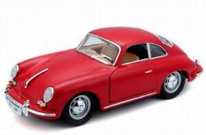PORSCHE 356 B Coupe - 1961 - red - Bburago 1:24
