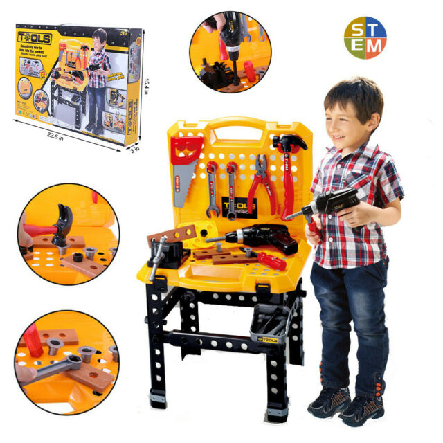 Excellent Toy Power Workbench Kids Tool Bench Construction Set Tools For Boys Toddler Machost Co Dining Chair Design Ideas Machostcouk