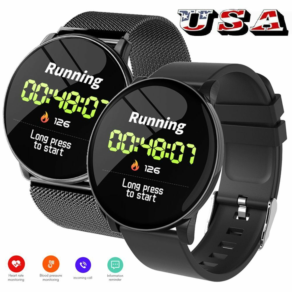 Fashion Smart Watch Sport Wristwatch Heart Rate Monitor for Android Men Women