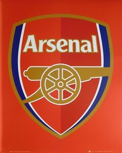 (LAMINATED) ARSENAL FC CANNON POSTER (40x50cm) LOGO NEW LICENSED ART