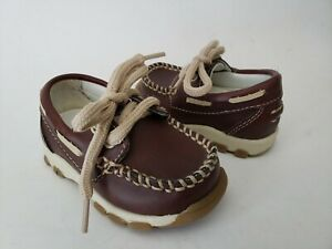 SMARTFIT Brown Lace Up Loafers Infant