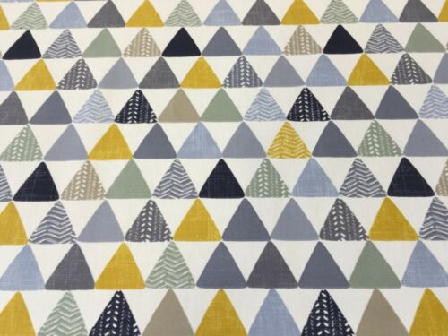 Iliv SMD Pyramids Ochre Cotton Print Fabric