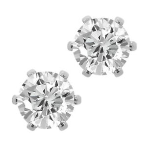 3-00-Ct-Cubic-Zirconia-CZ-Round-Post-With-Friction-Back-Stud-Earrings-6MM