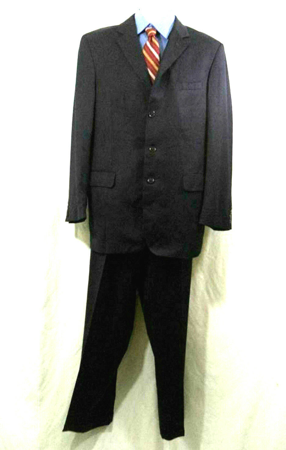 Jos A Bank  Herren 2 Pc Suit Gold Collection Wool Navy 3 Button Sz 43 L 37X32