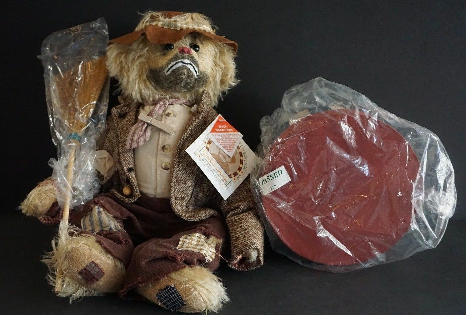 Emmet Kelly By Cooperstown Bears 100th Anniversary Mohair Bear - Rare 344/1000