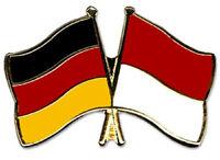 Deutschland Germany / Indonesien - Freundschaftspin - Metal Pin - Neu