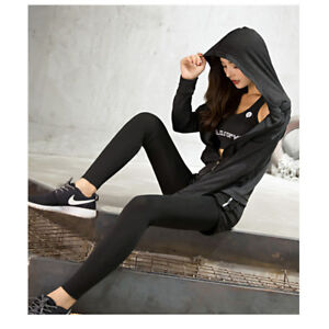 Women-Plus-Size-Active-Long-Sleeve-Top-Sport-Yoga-Hoodie-Sweat-Jacket-Zip-Pocket