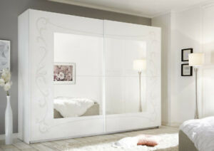 Soler armadio scorrevole con specchio 243 bianco e - Armadio scorrevole specchio ...
