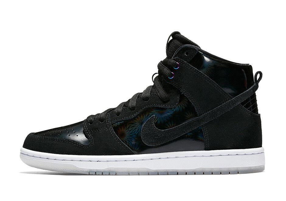 Nike SB - Dunk High | Homme Skate Chaussures - 854851-001 | Noir / Iridescent / Clear Chaussures de sport pour hommes et femmes