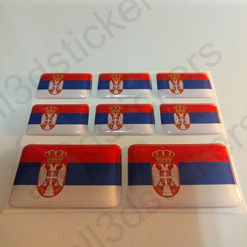 Adesivi Serbia Adesivo Bandiera Serbia Resinati 3D Resinato Resine Vinile Moto