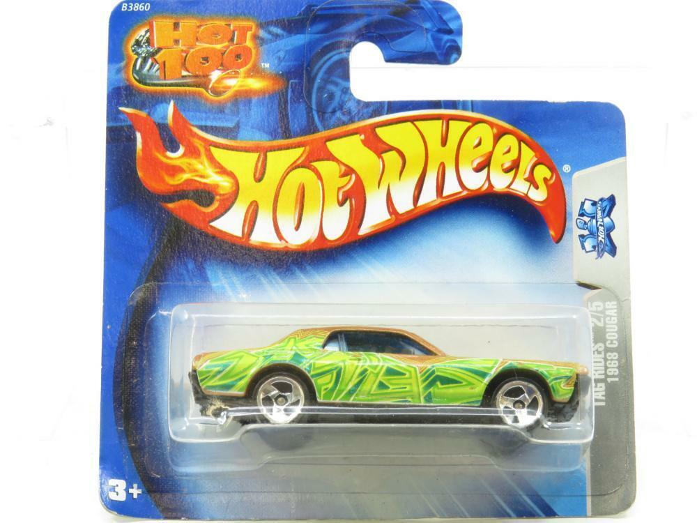 Hotwheels 1968 Cougar Tag Rides 2 5 B3860 Short Card 1 64 Scale Sealed
