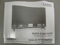 Vizio Tv Quick Start Guide Manual Models E50-c1 E55-c1