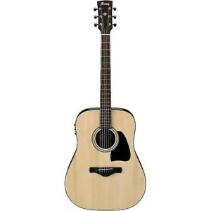 Ibanez Aw535nt Artwood Solid Top Dreadnought Acoustic Guitar Natural New Musical Instruments & Gear