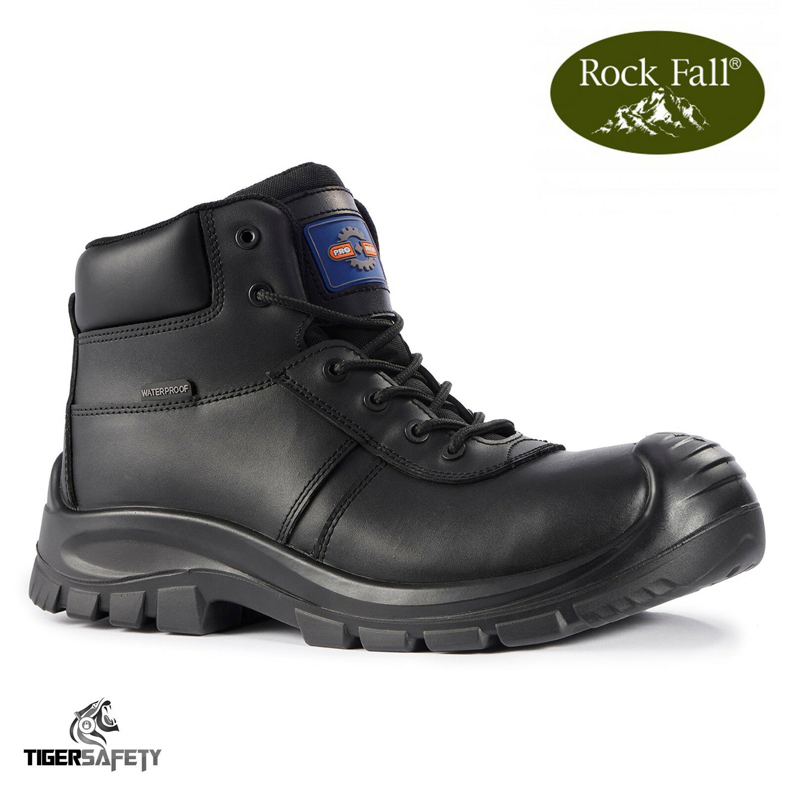 Rock S3 Fall Uomo pro Baltimore S3 Rock Nero con Punta in Acciaio Impermeabili f04088