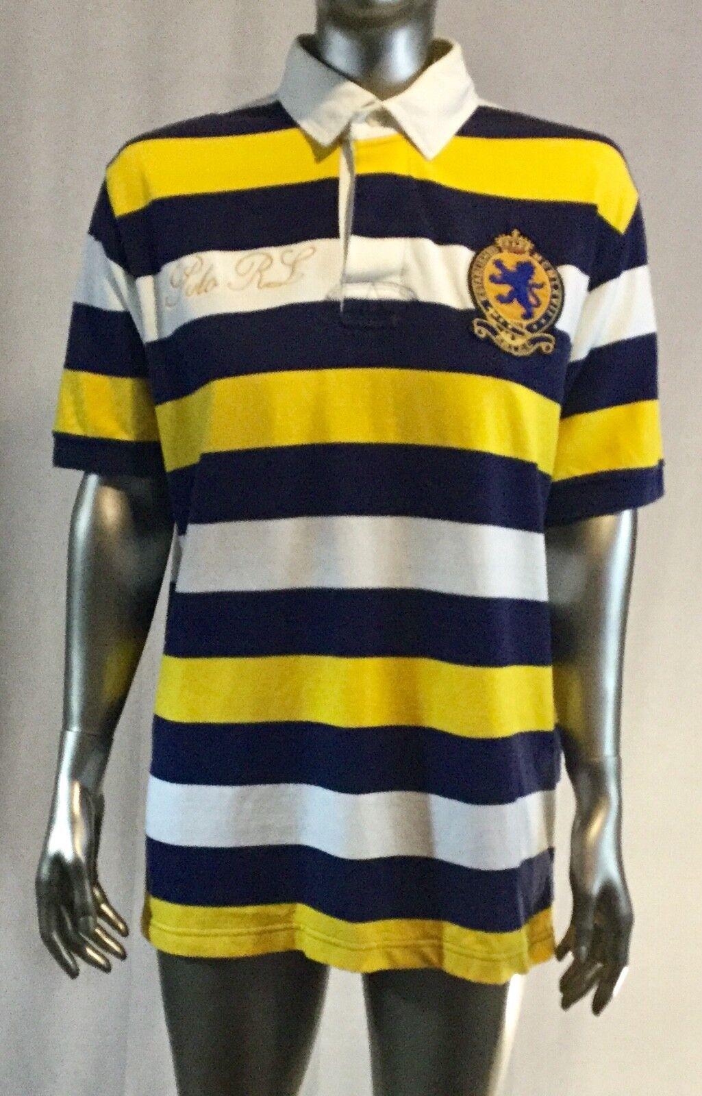 Polo Ralph Lauren Uomo su Misura Vintage a Righe   Polo Rl   Maglia da Rugby L