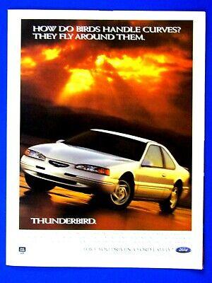 "1997 Ford Thunderbird Birds Fly Around Curves Original Print Ad-8.5 x 11/"""