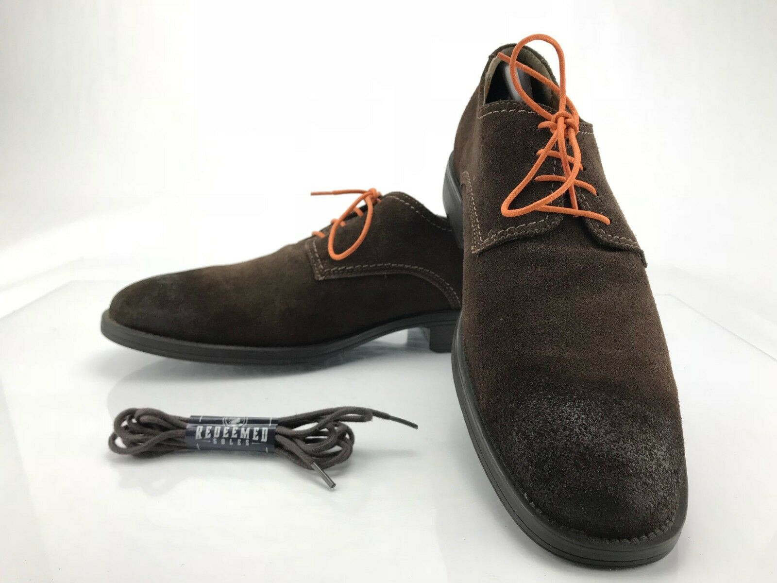 Hush Puppies Plane Oxford shoes - Dark Brown Suede Casual Men's Size 11.5 M