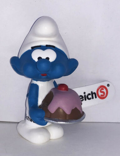 NEW Greedy Baker Smurf Figurine 20815 Plastic Miniature Figure 2019 SMURFS SET