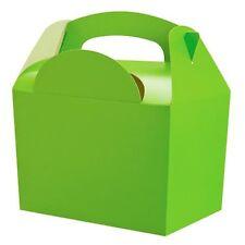 10 Kinder Limettengrün Geschenkboxen Geburtstagsparty Snack Mittagessen Mehl