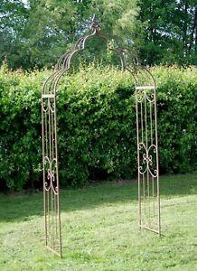 Metal Garden Arch Cream or Rusty Pergolas Garden Plant Arch Garden