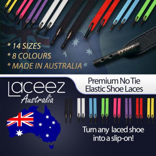 Australia WHITE Premium No Tie Elastic Shoelaces Laceez