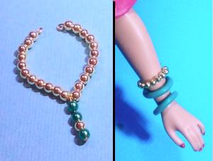 Dreamz ARABIAN NIGHTS NECKLACE /& BRACELETS Jewelry Set VINTAGE REPRO for Barbie