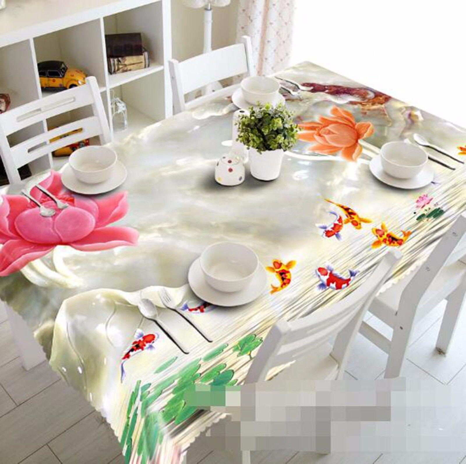 3D Carp 502 Nappe Table Cover Cloth fête d'anniversaire AJ papier peint Royaume-Uni Citron