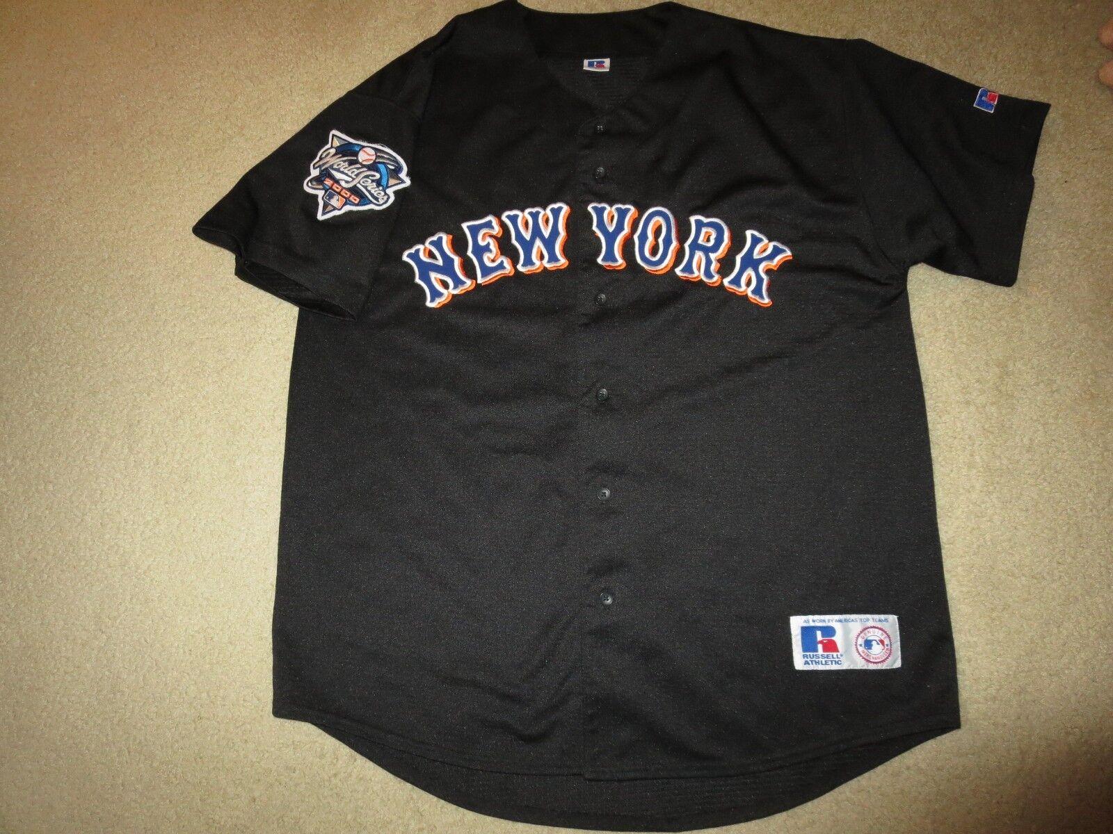 New York Mets 2000 2000 2000 World Series Russell Athletic Schwarz MLB Trikot L L  | Sale Online  abac6d