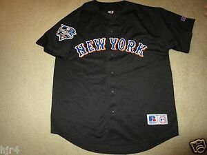 4ffcf6736 New York Mets 2000 World Series Russell Athletic Black MLB Jersey LG ...