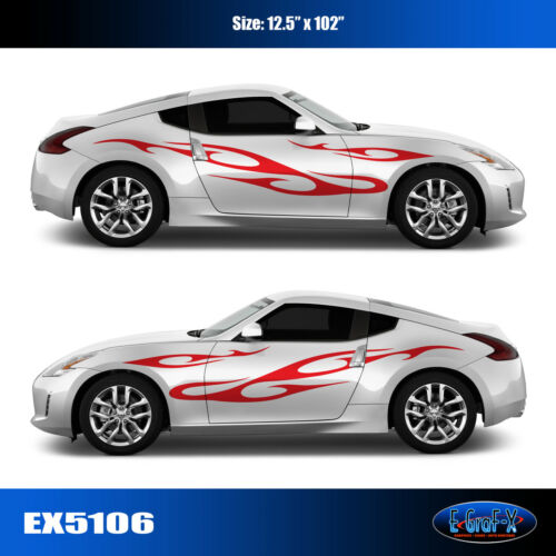 5106 Tribal Flame Body Vinyl Graphics Decals CAR TRUCK High Quality EgraF-X