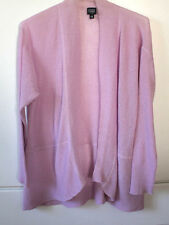 Eileen Fisher Light Lilac open front thin knit See-Through cardigan sz 3X NWOT