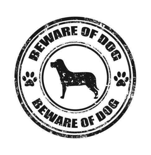 Cuidado Del Perro guardaos de los perros de advertencia de la etiqueta engomada de la etiqueta de vinilo gráfico Etiqueta V8