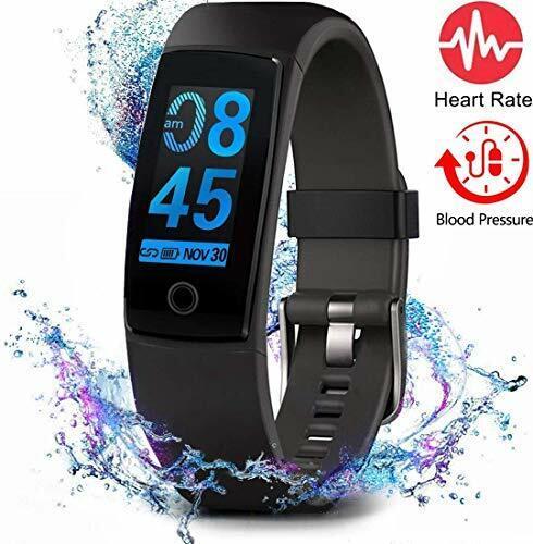 Fitness Tracker Waterproof Activity Tracker w/ Heart Rate Blood Pressure Monitor