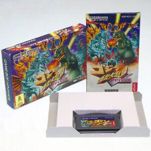 Godzilla-Kaiju-Monster-Dairantou-Nintendo-Game-Boy-Advance-Japan-Import-GBA-Comp