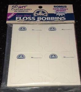 Plastic Floss Bobbin /& Ring DMC Cross Stitch Needlepoint Sewing Notion