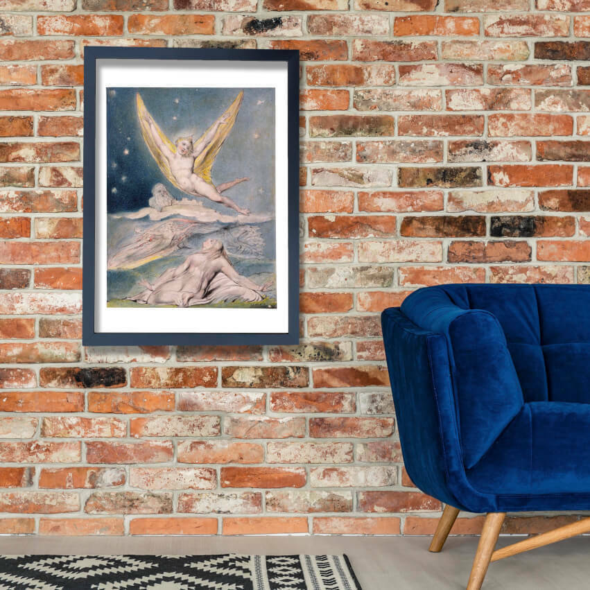William Blake - Penseroso & L'Allegro Angels Wall Art Poster Print