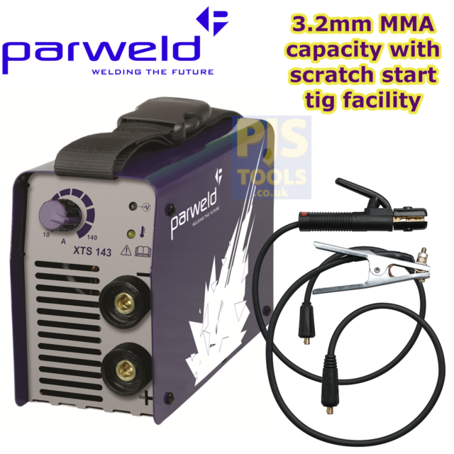 PARWELD XTS 142 MMA Arc Welding Inverter 140 AMP 230v with TIG FUNCTION LEADS