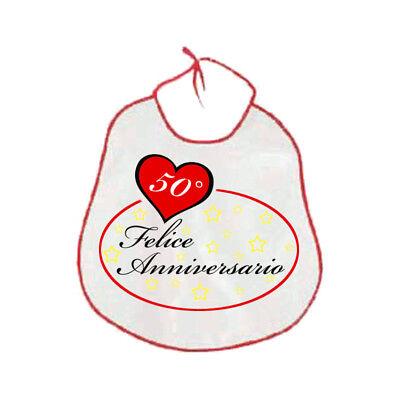 Anniversario Matrimonio Numeri Lotto.Bavaglione Bavaglia Adulti Scritta 50 Anni Anniversario Matrimonio